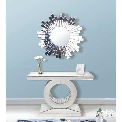 mirrored console with simple Hollow bottom